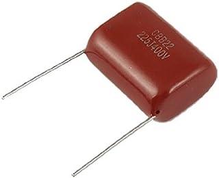 DealMux 10 stuks CBB22 400 V 2,2 uF DIP-condensatoren van gemetalliseerde polypropyleenfolie.