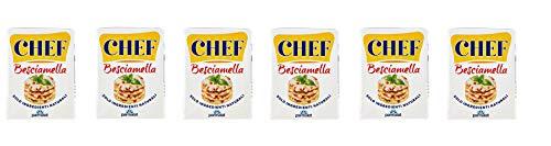 6x Parmalat Chef Besciamella Klassisches Bechamel Sauce zum Kochen 200ml natürliche Zutaten bereit zum Kochen