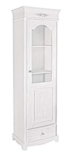PEGANE Vitrine Coloris Blanc en Bois - Dim : L 50 x P 34 x H170 cm