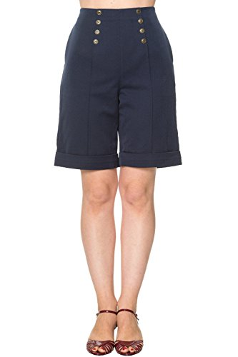 Banned Apparel - Pantaloncini - Donna Navy 44