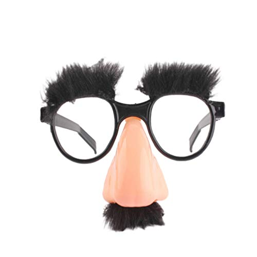 Tomaibaby - Occhiali da naso con sopracciglia e baffi, in plastica, per Halloween, decorazione di festa di compleanno