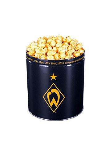 Gourmet Popcorn Original Fanartikel Werder Bremen 3,8 Liter Dose (ca. 550 g) Exklusiv Premium Popcorn Butter SeaSalt / Meersalz Karamell Süß