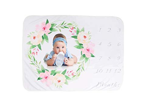 XNX Baby Boy Milestone Blanket Baby Monthly Blanket Newborn Photography Props Background, Premium Fleece - Great