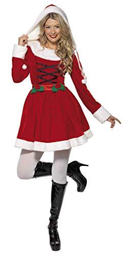 Smiffys Costume de Mère Noël, Rouge, avec robe