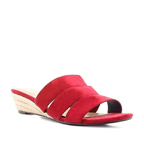 Sandalias de Mujer Verano con cuña de Yute - Andres Machado AM5436 – Sandalias cómodas Sandalias en Tallas pequeñas y Grandes de la 32 a la 35 y de la 42 a la 45