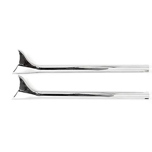 Fishtail Exhaust Pipe Extensions for Harley Road King 1985-2011