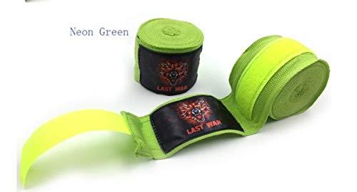 LLine effen kleuren elastische MMA handwraps boksenMuay Thai kickboksverbanden Boxersporttapes, legergroen, 3 meter