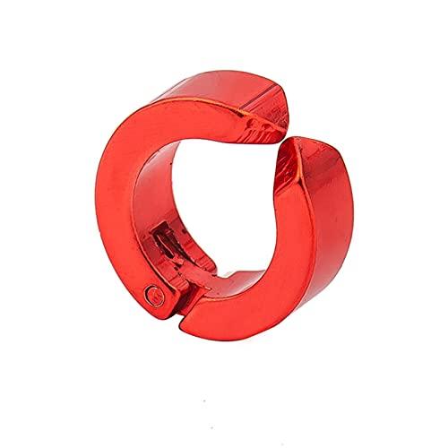 DFDLNL Pendientes para MujerClip de Oreja de Acero para Hombres y Mujeres Clip de Hueso de Oreja sin Perforaciones Conjunto de Pendientes con Hebilla de Oreja Rojo