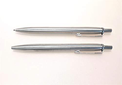 Metallkugelschreiber, matt glänzend, Metall Kugelschreiber detektierbar, Mine einziehbar und austauschbar, mit Clip (blau)