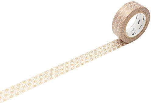 mt Asanoha Sinchu Washi Masking Tape Roll - Gold