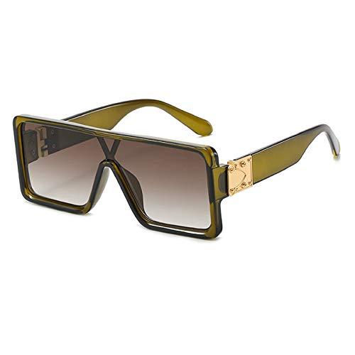 N\P Gafas de sol unidas Gafas de sol de hombre y mujer de tipo cuadrado con montura grande