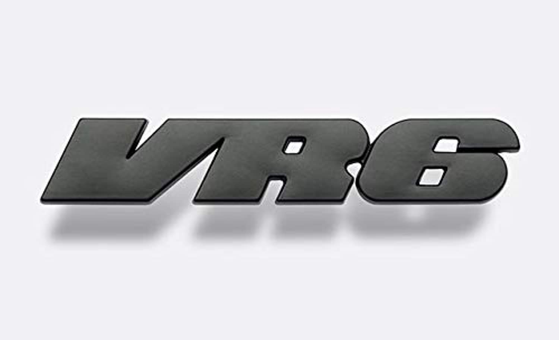 Metal VR6 Auto Logos Badges Name Black) Emblems (color nndosd6358