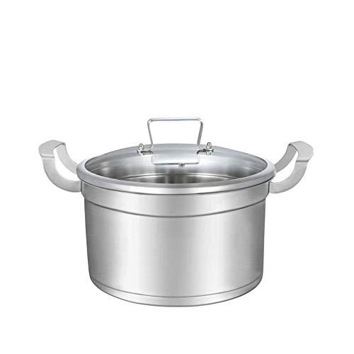 Pot À Soupe 304 En Acier Inoxydable Profond Pot À Double Fond Épaississant Cuiseur Non-bâton Pot Pot À Soupe Pour Augmenter 2CM