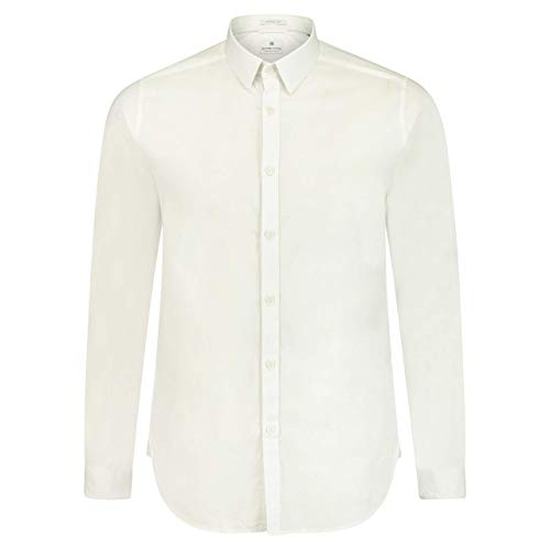 DSTREZZED Slim-Fit Hemd mit Strukturmuster Weiss (100 White) S