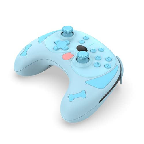 Wireless Pro Controller for Switch/Switch Lite Console,Puppy Wireless Bluetooth Gamepad Controller,Dual-Motor Six-Axis Wireless Puggie Gamepad with Wake-Up Function