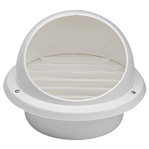 Wetterschutzgitter Haube, Verdicken Rund Weiß PVC Kunststoff Abgasrohr Filter Entlüftungsöffnung Louver Belüftungen Haube,Lüftungsgitter,75mm