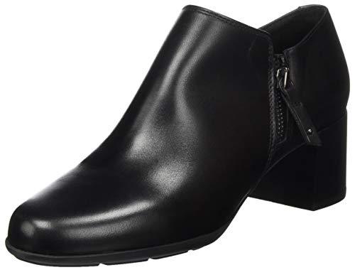 Geox Damen D New Annya Mid C Ankle Boot, Schwarz, 39 EU