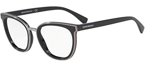 Emporio Armani 0EA3155 Monturas de Gafas, Black, 52 para Mujer