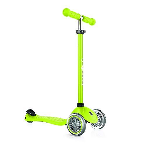 Globber Unisex Jugend Primo Dreiradscooter, grün, One Size