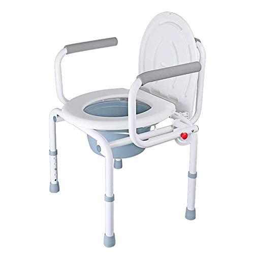 Adesign Hogar de ancianos Mujeres embarazadas Baños Baños plegable impermeable antideslizante baño Silla, ajustable Reposabrazos de asiento de inodoro de edad avanzada silla de baño Auxiliar de Seguri