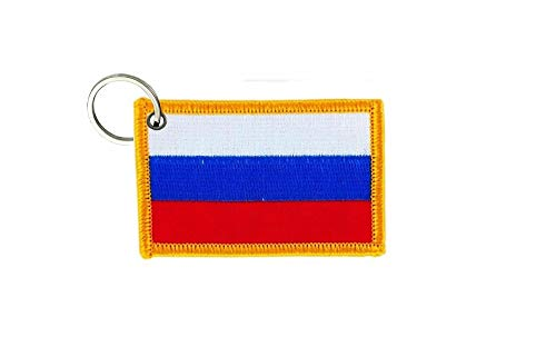 akachafactory Porte cle cles Clef Brode Patch ecusson Badge Drapeau Russie Russe
