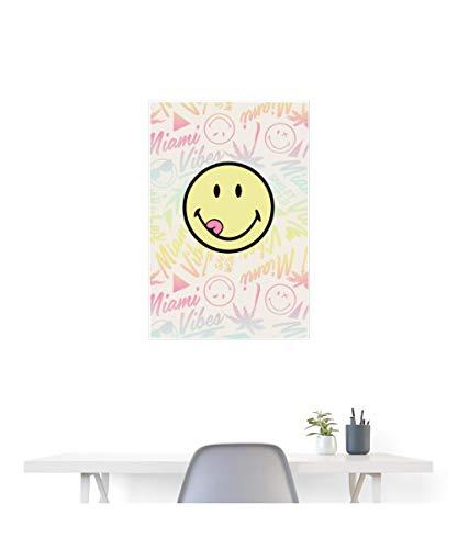 Spreadshirt SmileyWorld Zunge Classic Smiley Poster 60x90 cm, Weiß