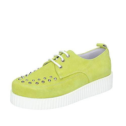 Cult Sneakers Damen Wildleder grün 37 EU