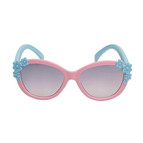 Amour UV Protected Flower design Sunglass for kids (3 to 6 years) with Protective Hard Case