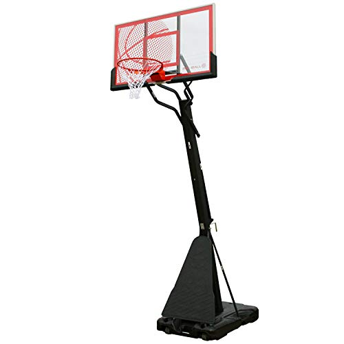 Photo of Bee-Ball ZY-021 Optimum Basketball Stand, Full NBA Official Size Basketball Hoop, Heavy Duty Breakaway Ring and Rebound System