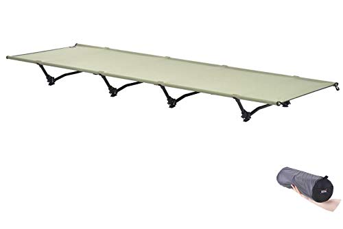 Desert Walker コット 軽量 2.3KG 長190×幅66CM アウトドアベッド 低騒音 ベッド キャンプ 耐荷重200KG 安定している(陸軍の緑)