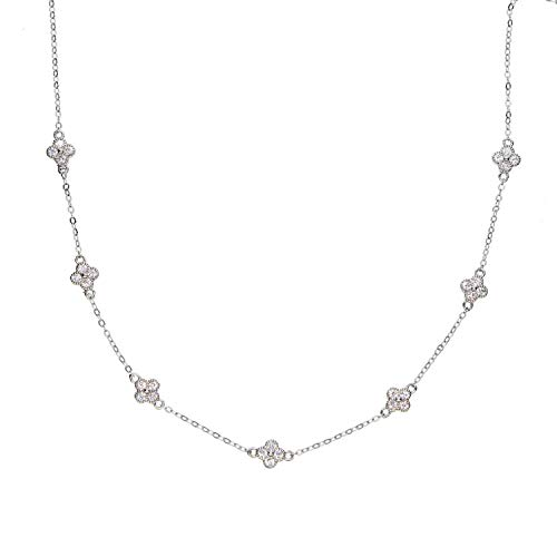 Sterling Silver Layer Necklace Gold Rose Silver Minimal Delicate Chain Choker,silver1