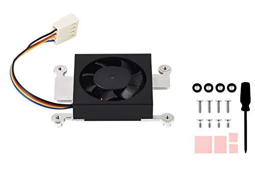 para Raspberry Pi Compute Module 4 Ventilador de Refrigeración Raspberry Pi CM4 Disipador de Calor Radiador con Cintas Térmicas, Bajo Nivel de Ruido, Disipación de Calor Rápida