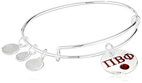 Alex and Ani Women's Color Infusion Pi Beta Phi II EWB Bracelet, Shiny Silver
