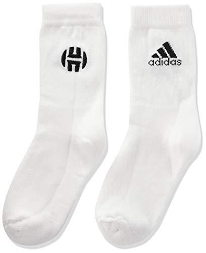 adidas Harden Basketball Socken, White/Black, 31-34 EU