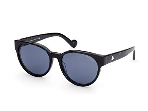 Moncler sonnenbrille ML0144 56V Havana blau größe 56 mm Frau