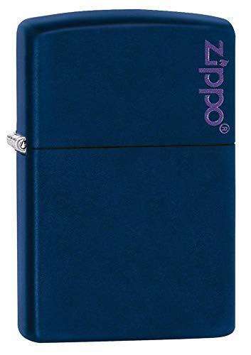 Zippo Logo Pocket Lighter, Navy Matte