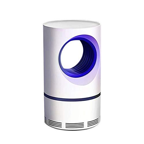 Yonimu Bombilla eléctrica LED para atrapar Mosquitos, lámpara de Captura de luz UV LED de Fly Catcher con Ventilador de succión para Uso en Interiores, no tóxica, lámpara de Mosquito fotocatalizador
