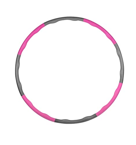 Lebbio - Hula Hoop para adultos y niños - Ideal para perder peso - Aro con capucha desmontable de 6-8 piezas - Deporte/fitness/entrenamiento de fuerza