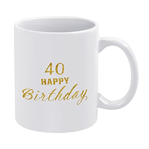 Taza de café divertida 330ml taza de agua 40 cumpleaños