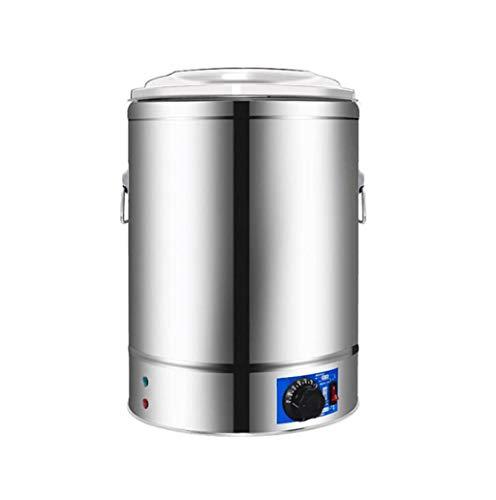 Insulation barrel double soup barrel business electrical insulation barrel chrome steel cooking barrel open bucket soup noodle barrel heat barrel (Color : Silver, Size : 50l)
