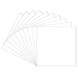 12″x12″ White Permanent Adhesive Backed Vinyl Sheets, 10 Pack Glossy White Oracal 651 Vinyl for Indoor/Outdoor Marking, Lettering, Decorating, Signs, Decals, Window Graphics for Cricut, Silhouette…