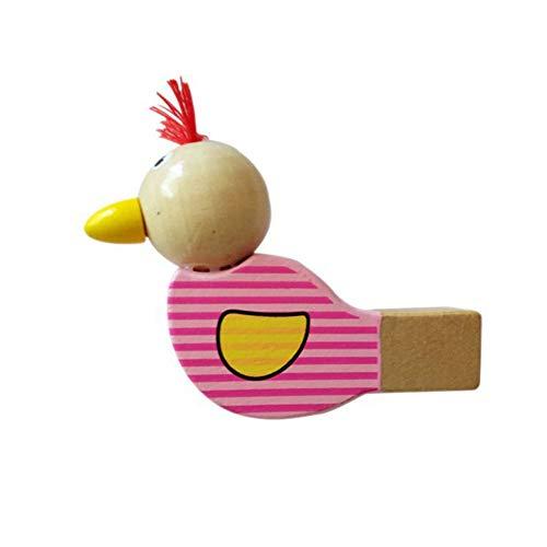 Kanggest.Silbato de Bebe en Forma de pájaro Pequeños Juguetes de Trompeta de Madera para Niños Instrumento de Silbato de Madera Juguetes Educativos para Bebés