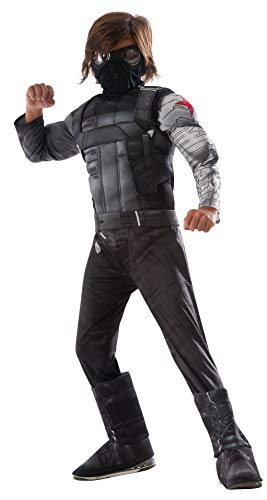 Captain America 3 Deluxe Muscle Chest Winter Soldier Costume Child Medium