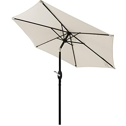 CHOICEHOT Patio Umbrella 7.5' Outdoor Patio Backyard Umbrella Pool Umbrella with Tilt & Crank,...