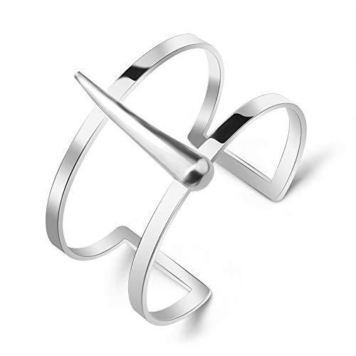 YingYing Ma titanium staal sieraden open armband dames dubbele dekking Liudin hand ring B