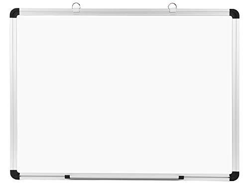Amazon Brand – Eono Whiteboard magnetisch, Magnettafel zum Aufhängen an die Wand 60 cm x 45 cm – mit Stiftablage und Aluminiumrahmen-trocken abwischbar, beschreibbar