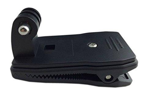 AKORD Morsetto Supporto Professionale a 360Gradi Rotary Zaino per Fotocamera Zaino cap Rec-Monti Versatile Clip Veloce Morsetto Supporto per GoPro Hero 233+–Nero, Non applicabile