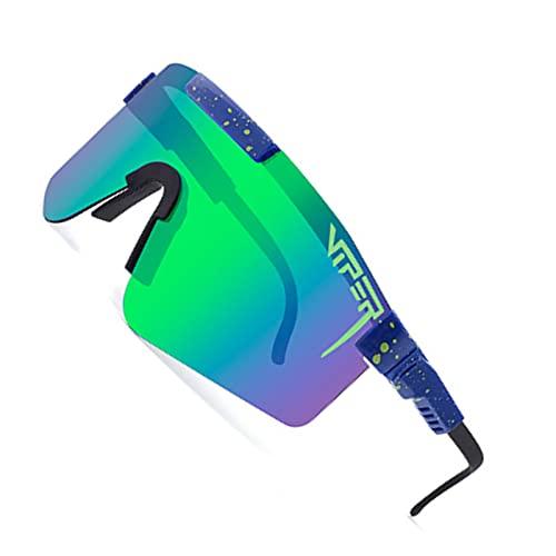 LPMA Gafas de Ciclismo,Gafas de Sol para Montar,Marco Grande,Colorido,Todo enchapado,película Real,Gafas de Sol polarizadas,Gafas de Sol Deportivas,Gafas de Bicicleta