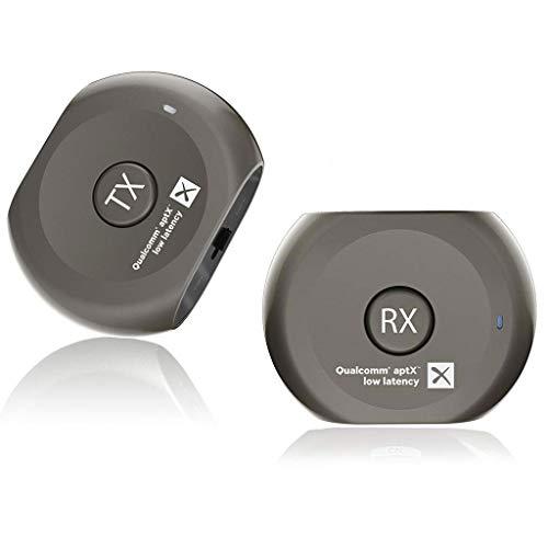 Avantree Lock Pre-paired Bluetooth Transmitter und Receiver Set, aptX Low Latency kabelloser Sender Adapter und Empfänger für TV Kopfhörer Lautsprecher, 3.5mm AUX RCA