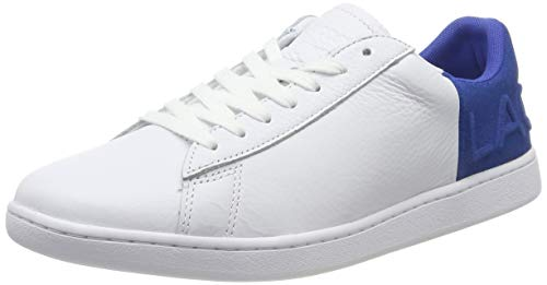 Lacoste Carnaby EVO 419 2 SFA, Zapatillas Mujer, Blanco (White/Blue 080), 37 EU